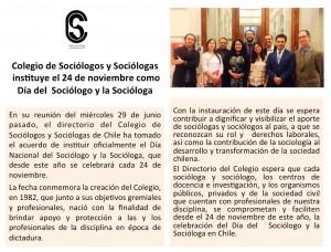 Día del Sociólogo y la Sociólogoa